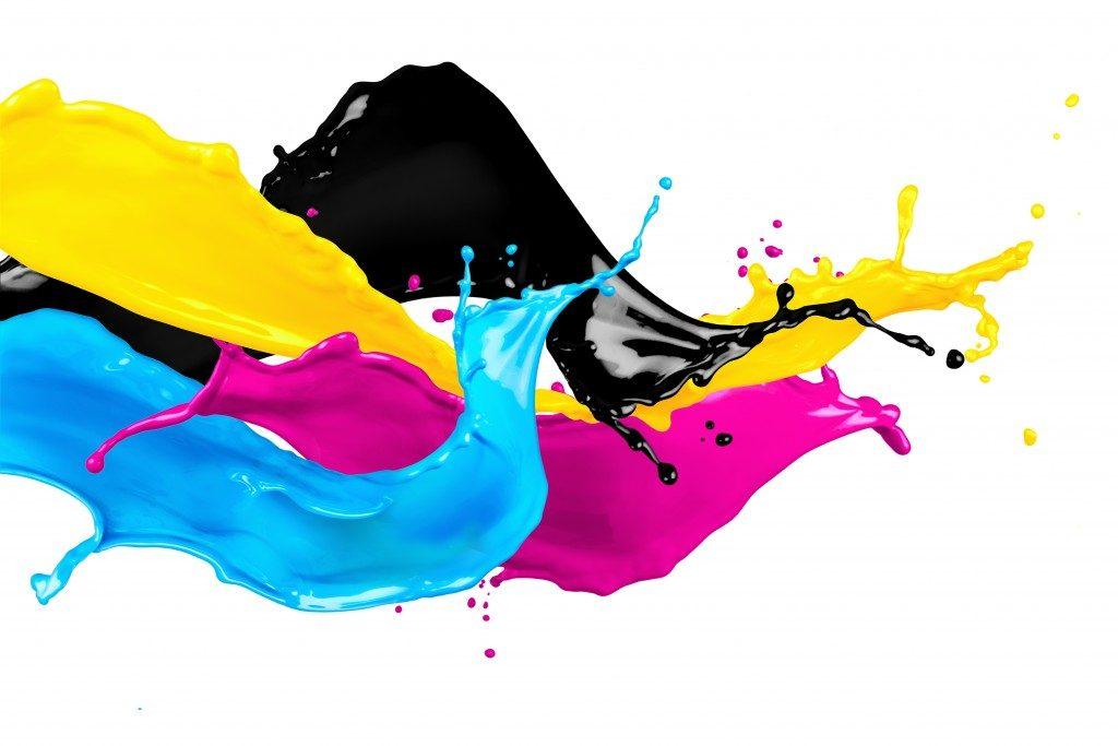 Paint liquid colliding