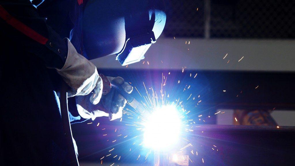 person doing a welding job