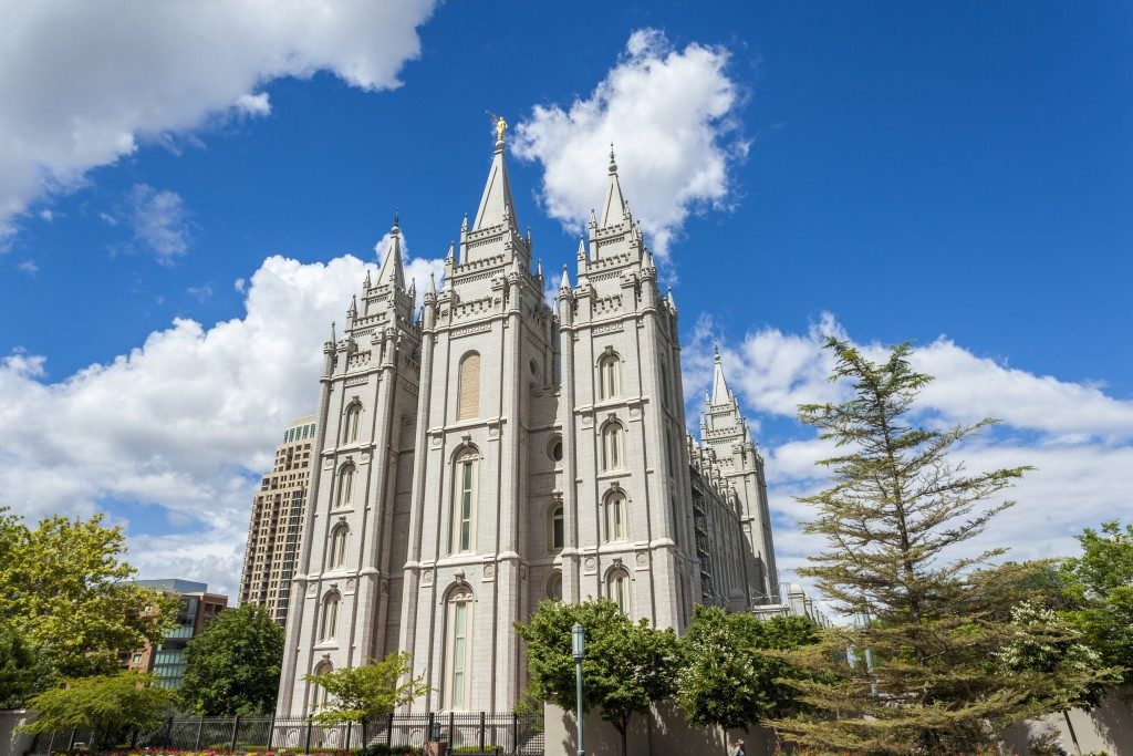 The Church of Jesus Christ of Latter-day Saints temple in Utah