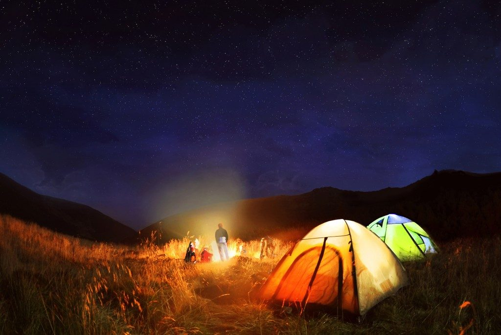 camping at the dark