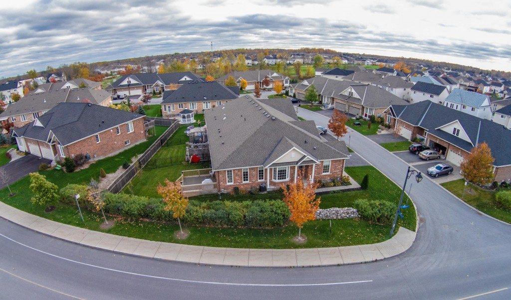 Neighbourhood aerial view