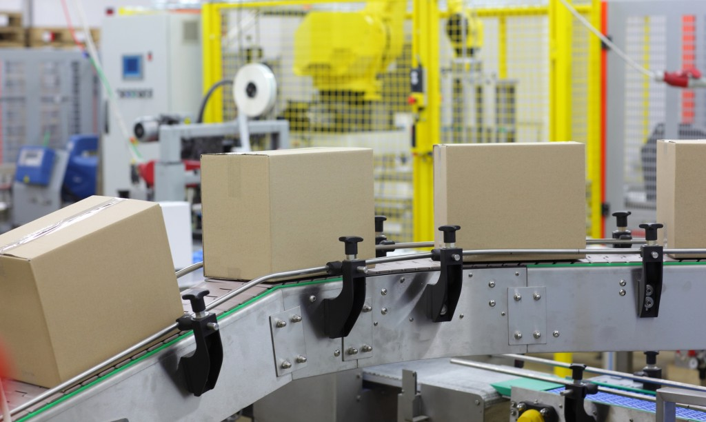 boxes in factory