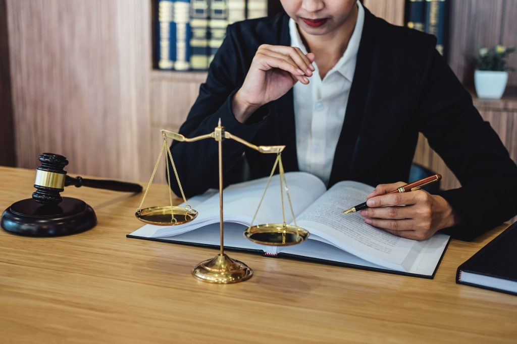 lawyer in her desk working