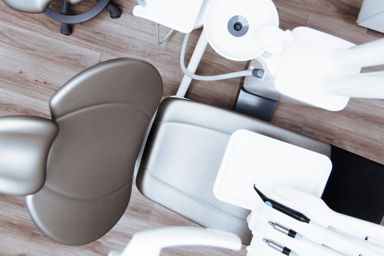 an empty dentist chair