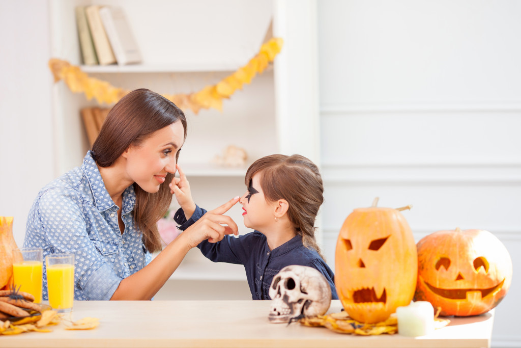 mother and child halloween