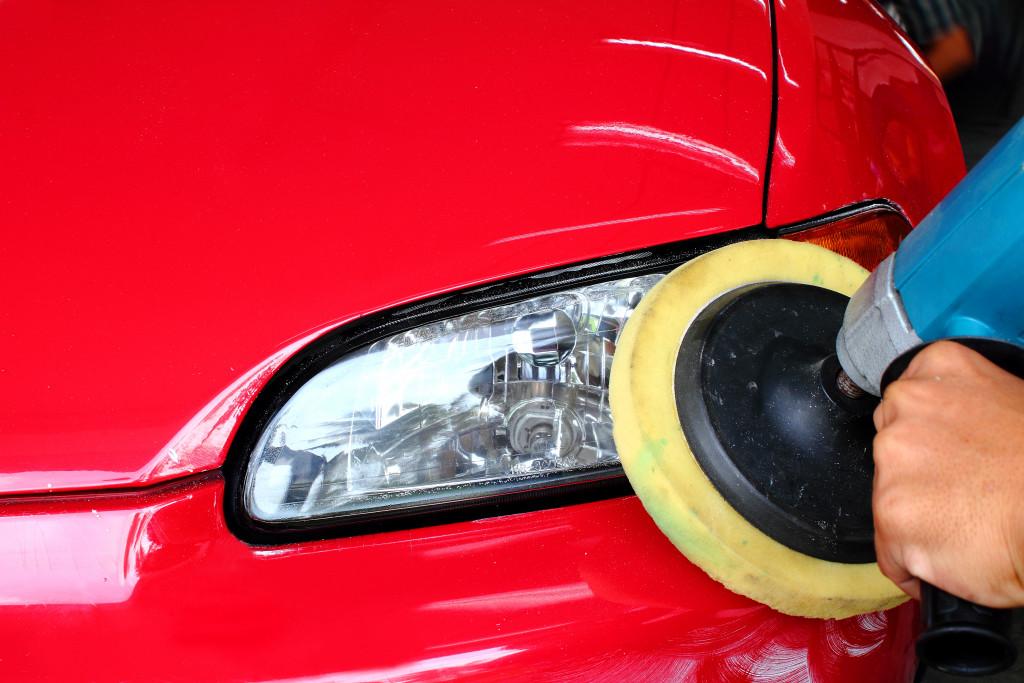 buffing headlights